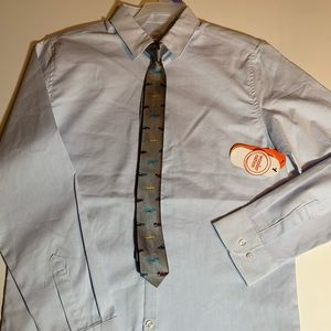 Boys long sleeve dress shirt and tie